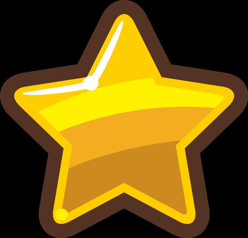 Clipart - Cartoon Gold Star