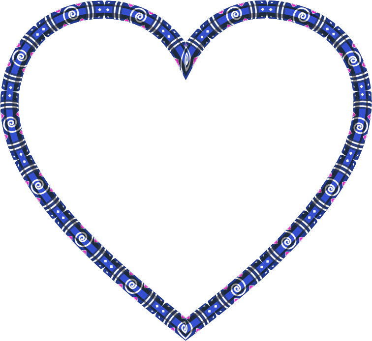 Clipart - Decorative Heart Frame Variation 2