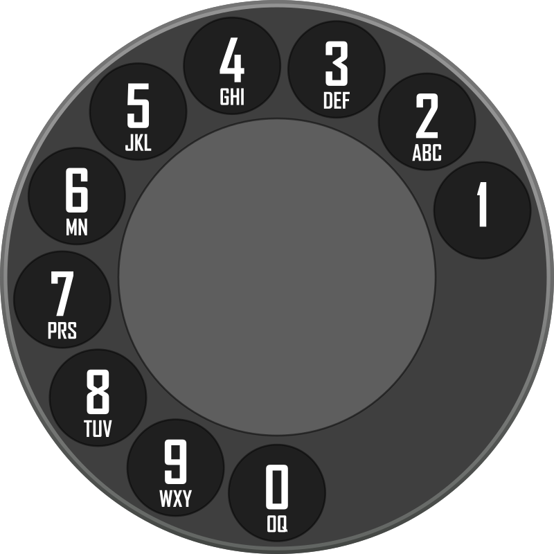 Rotary Dialer by sergeybe - Old-fashioned rotary dialer