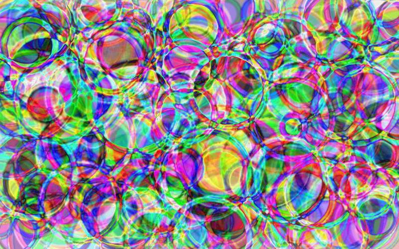 Clipart  Psychedelic Rings Background