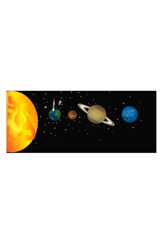 Clipart - Solar system