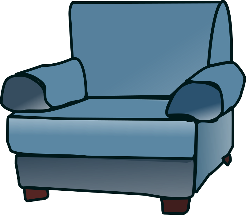 Armchair by Machovka - Blue couch.
