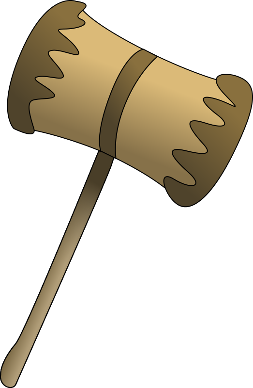 Wooden Mallet by bpcomp - A wooden mallet by Benji Park. From old OCAL site.