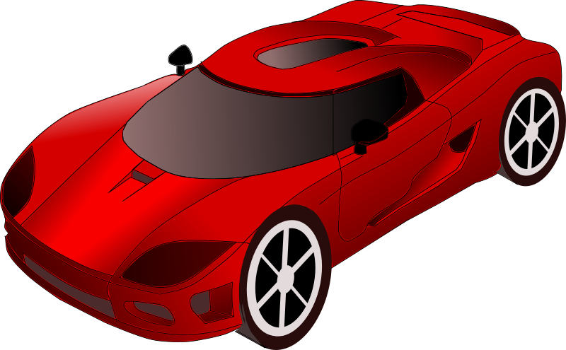 Clipart Sports Car Easy To Copy