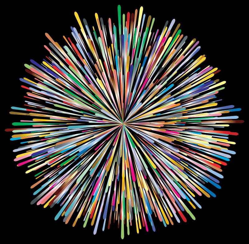 Clipart - Prismatic Fireworks 2