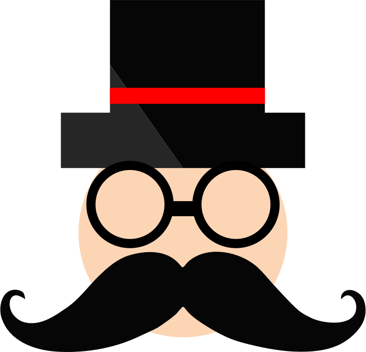 clipart man in top hat