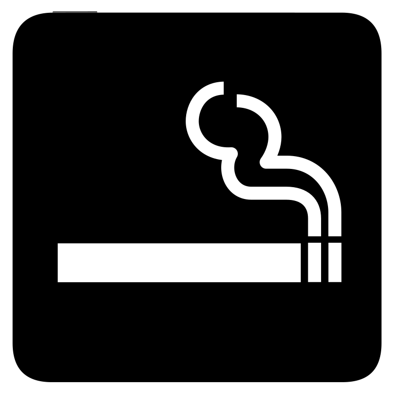 aiga smoking bg by jean_victor_balin - Set of international airport symbols. Source: http://www.aiga.org/content.cfm/symbol-signs Converted to SVG by Jean-Victor Balin.