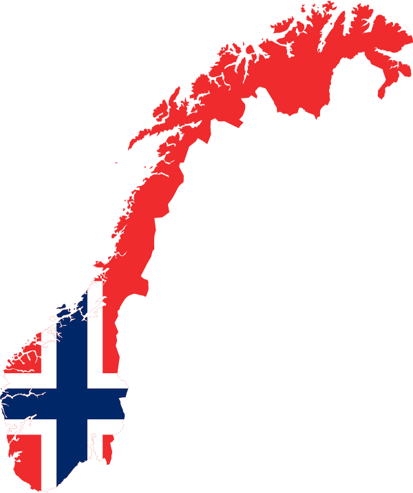 Clipart - Norway Map Flag