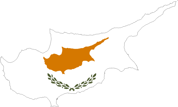 Clipart Cyprus Map Flag - Cyprus map