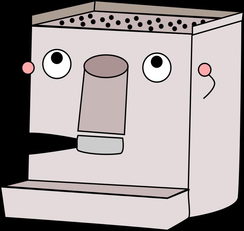 Cartoon Coffee Maker ~ Clipart espresso machine