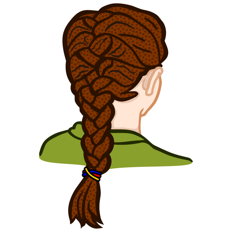Clipart - french braid - coloured