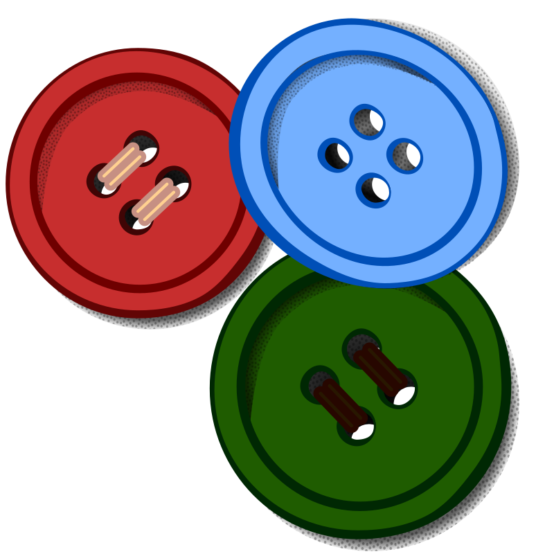 Clipart - buttons - coloured