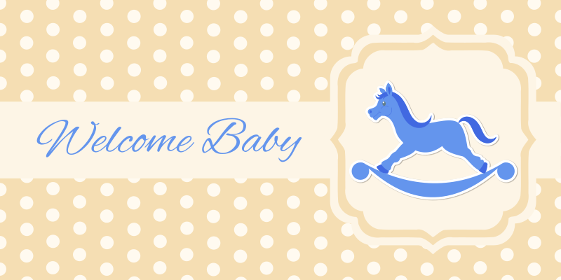 Clipart - Baby greeting card (boy)