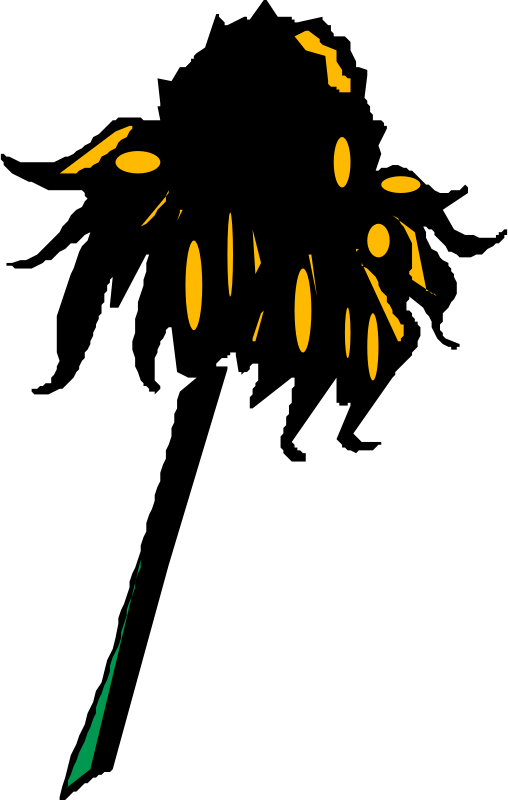 "Flower (Rudbeckia) by liftarn - Converted to SVG from clipart on ""PC för alla"" CD 3-2003."