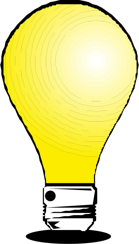 "Light bulb by liftarn - Converted to SVG from clipart on ""PC för alla"" CD 3-2003."