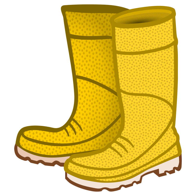 Clipart Rubber Boots Coloured