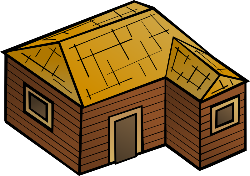 Line Art House Png : Clipart wooden house