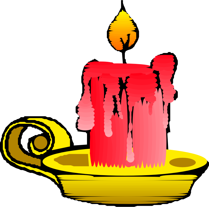 Red candle by liftarn - Thick red candle on a golden holder.