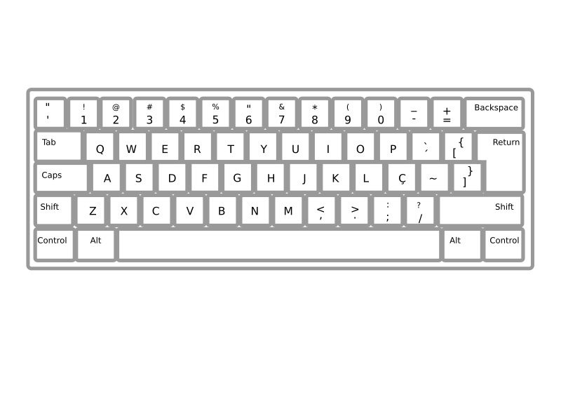 Keyboard ABNT2 Pt Br by Minduka - Keyboard ABNT PT BR