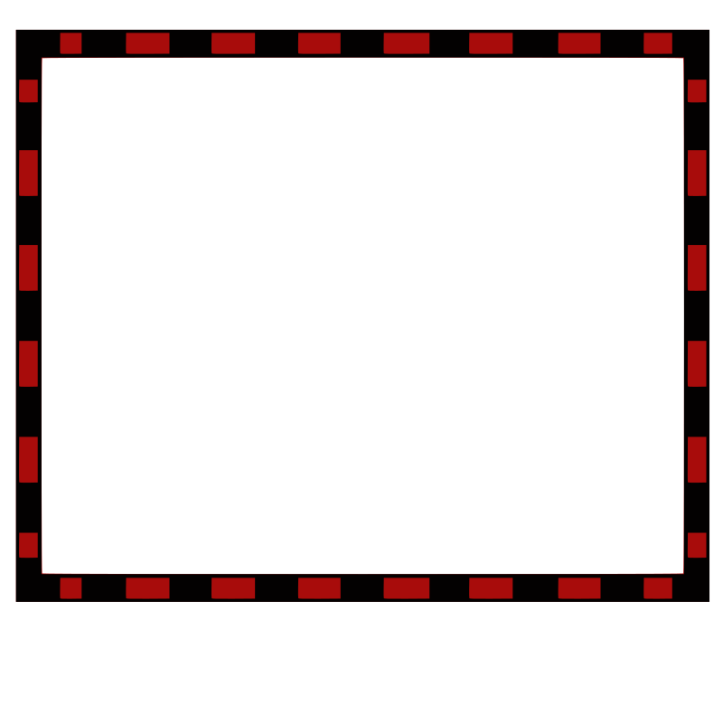 border redBlack4x3.3 by tomas_arad - Red and black rectangular border.