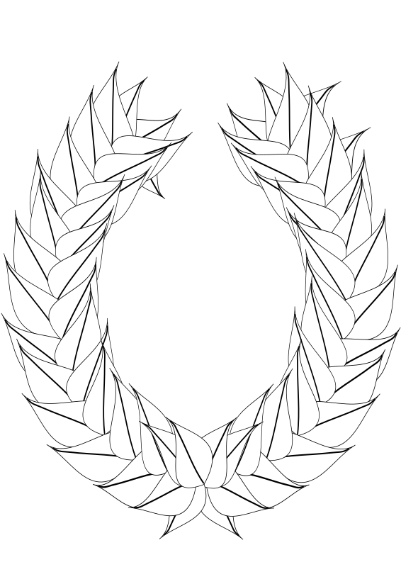 Clipart Laurel Wreath Blank Outline