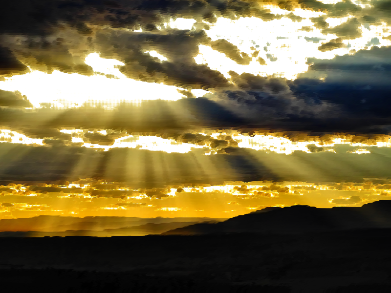 Clipart - Surreal Cloudy Sunset