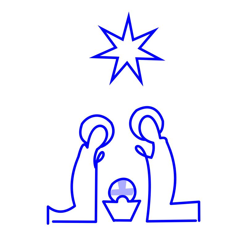 Clipart - Nativity