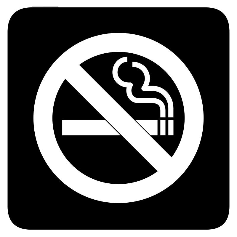 aiga no smoking bg by jean_victor_balin - Set of international airport symbols. Source: http://www.aiga.org/content.cfm/symbol-signs Converted to SVG by Jean-Victor Balin.