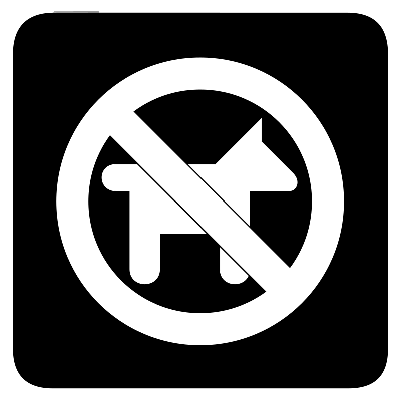 aiga no dogs bg by jean_victor_balin - Set of international airport symbols. Source: http://www.aiga.org/content.cfm/symbol-signs Converted to SVG by Jean-Victor Balin.
