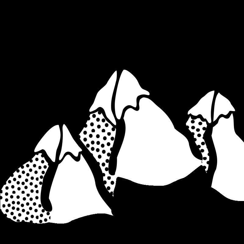 Mountain Peaks Clipart
