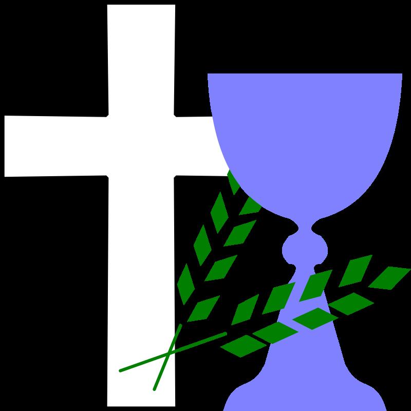 Clipart - Cross, Chalice, Wheat