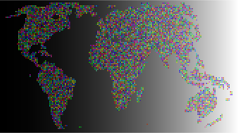Clipart prismatic world map dots 2 with background 2 medium image png gumiabroncs Images