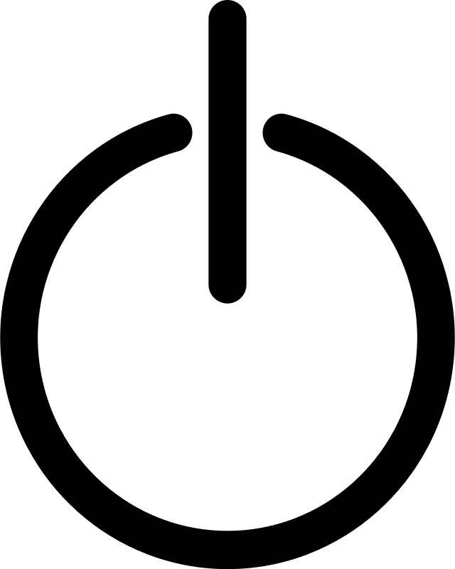 Power symbol by Soeb - A plain power symbol used to represent power buttons or power connection.