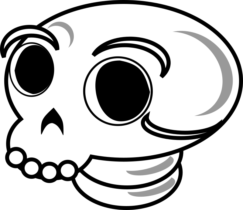 Skull by liftarn - Found at http://www.openclipart.org/cgi-bin/navigate/people?page=6 (oh, the irony)