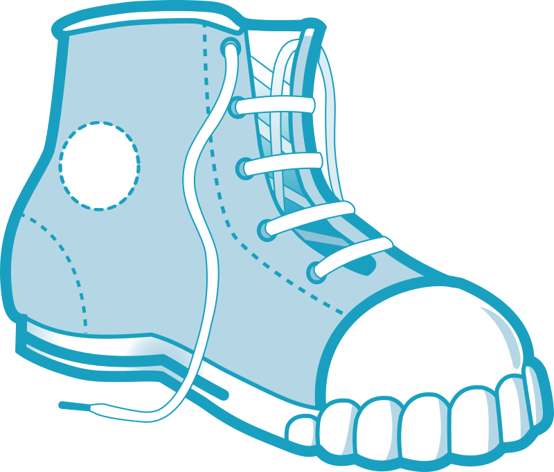 blue boot by badaman - A draw of a boot