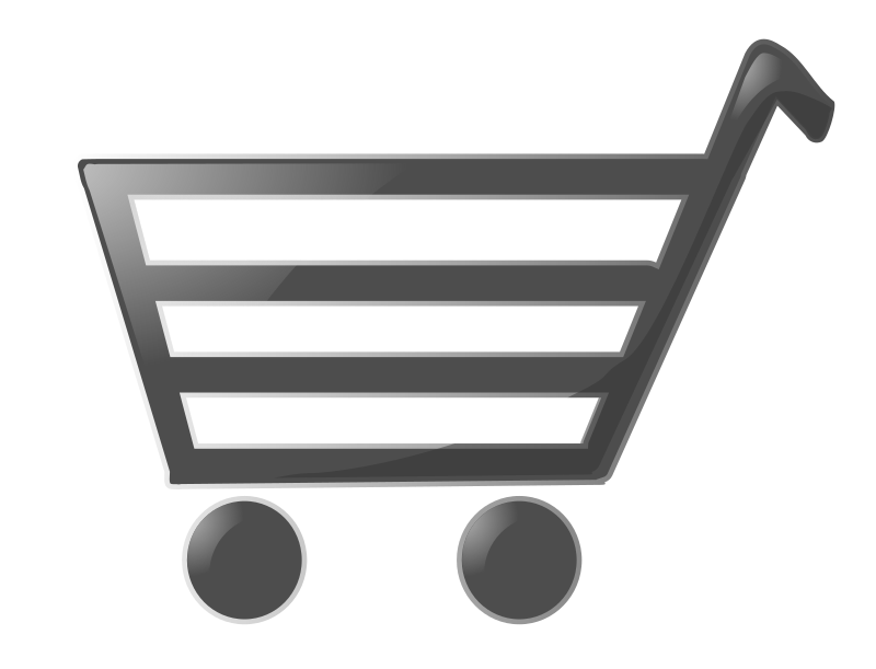 Shopping Cart by baroquon - A shopping Cart I made using inkscape. It is a pretty standard ecommerce shopping cart.