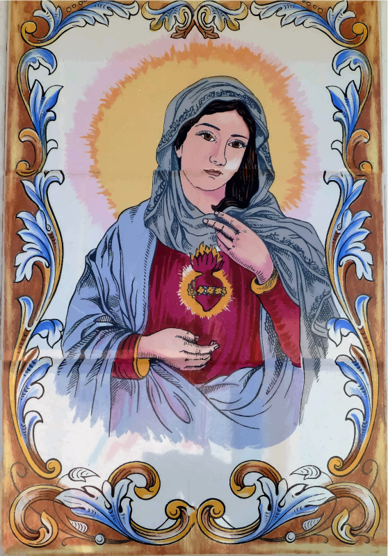 Clipart - Virgin Mary Mural