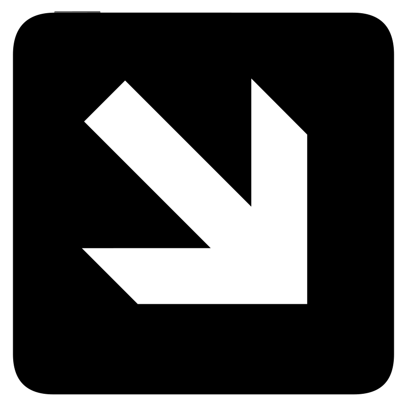 aiga right and down arrow bg by jean_victor_balin - Set of international airport symbols. Source: http://www.aiga.org/content.cfm/symbol-signs Converted to SVG by Jean-Victor Balin.