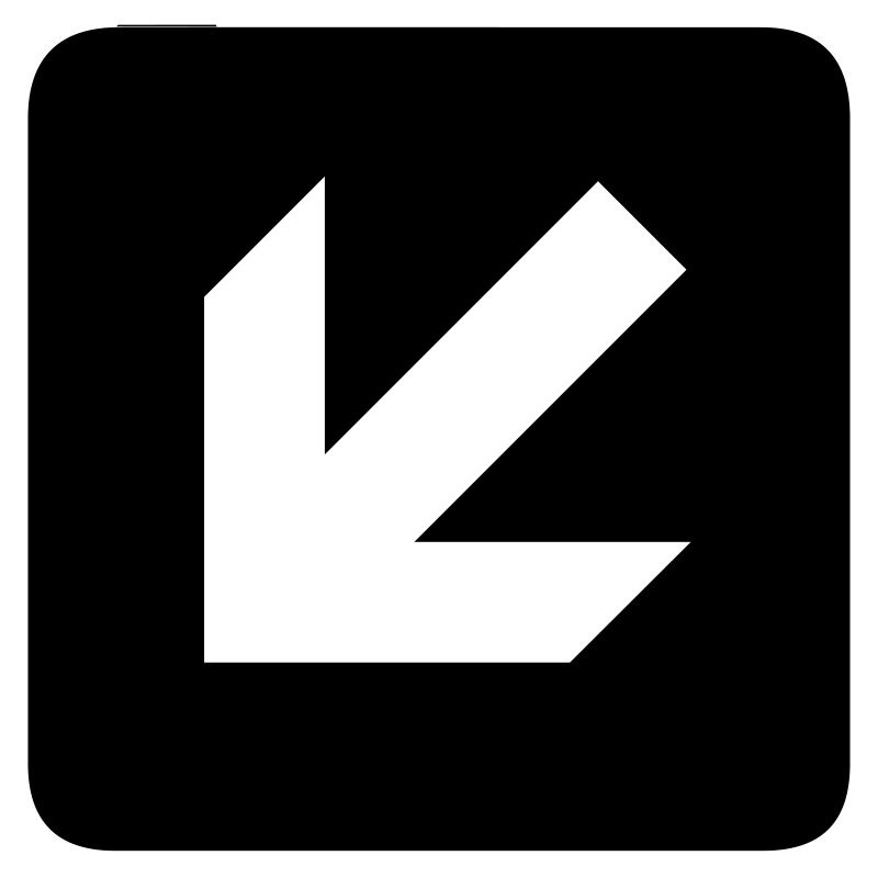 aiga left and down arrow by jean_victor_balin - Set of international airport symbols. Source: http://www.aiga.org/content.cfm/symbol-signs Converted to SVG by Jean-Victor Balin.