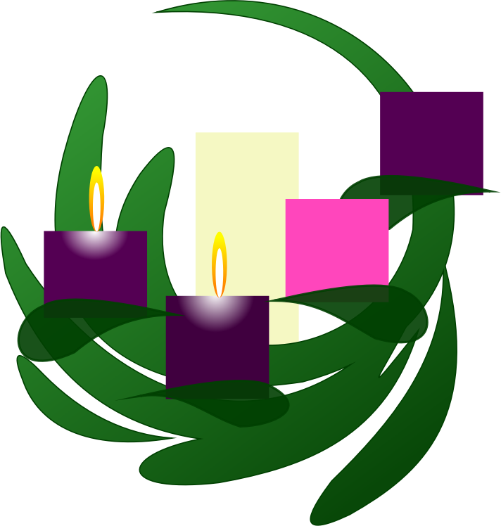 Clipart - Advent 2 Wreath