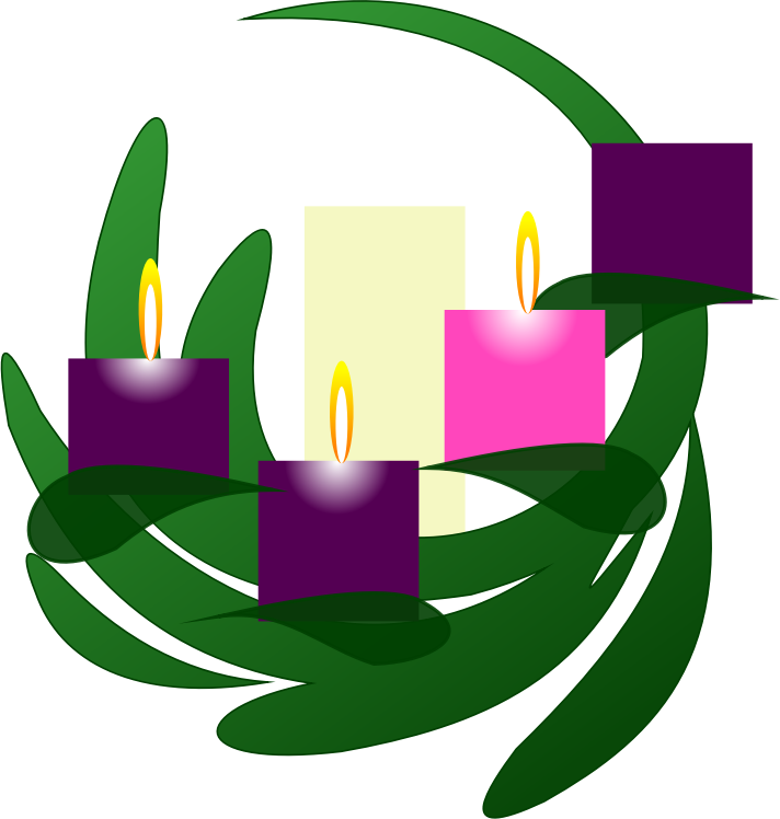Clipart - Advent 3 Wreath
