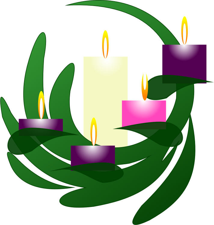 Clipart - Advent Wreath Christmas Eve