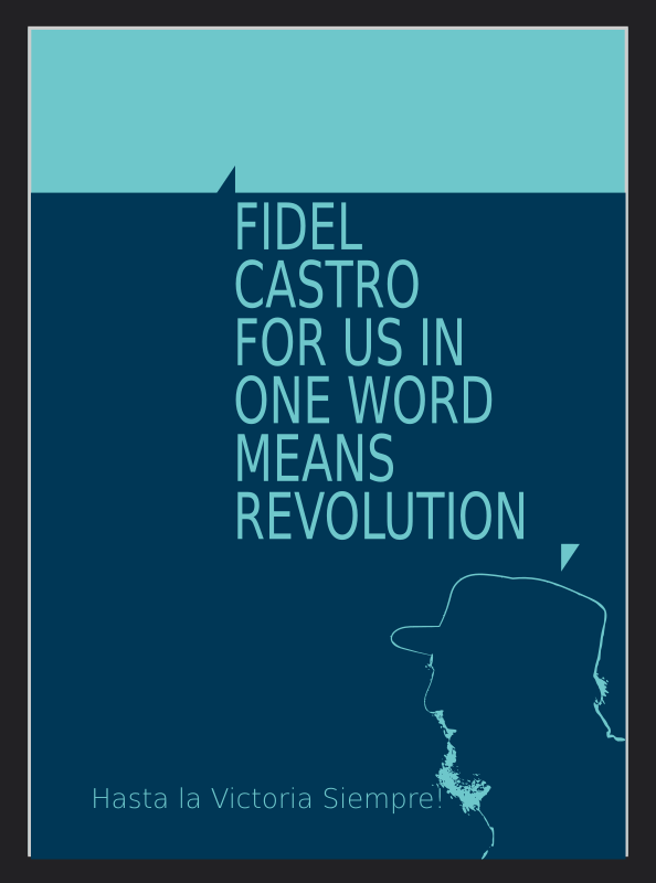 Clipart Fidel Castro For Us In One Word Means Revolution