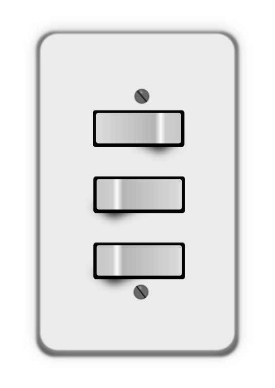 Light switch, 3 switches (one off) by lumbricus - light switches