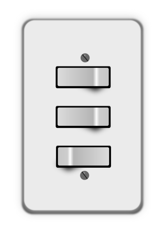 Light switch, 3 switches (two off) by lumbricus - switches