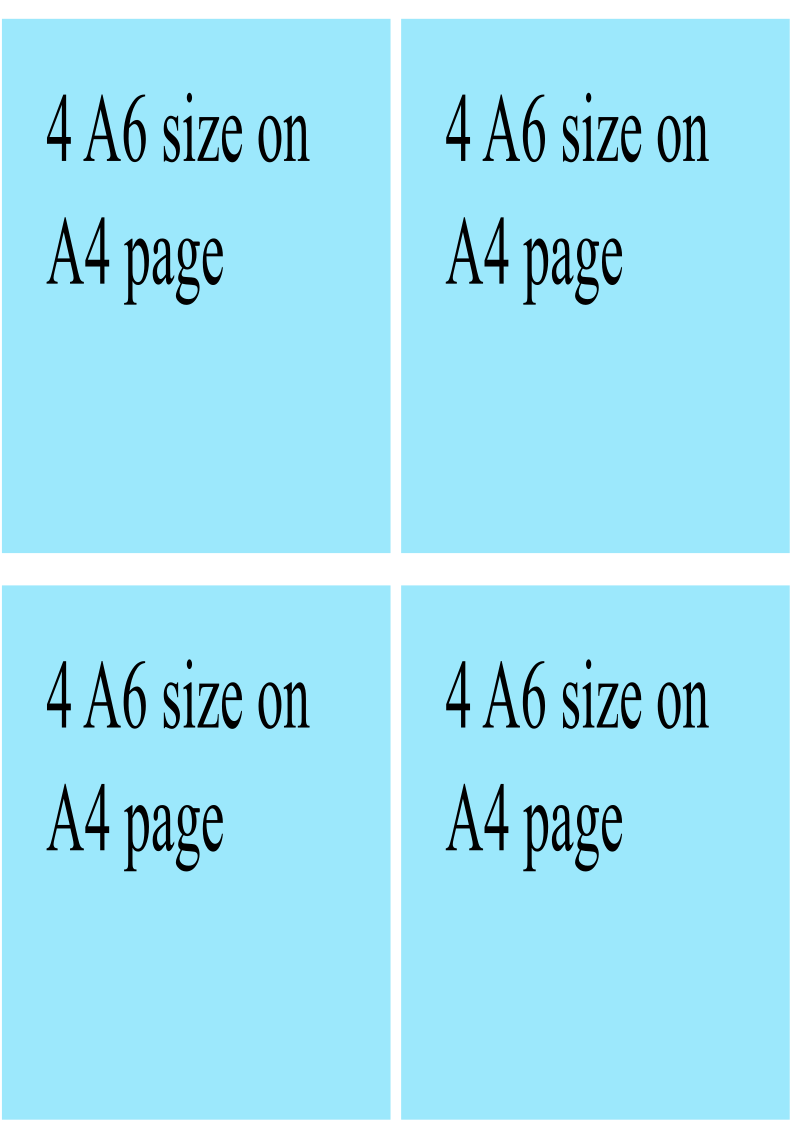4 on a page by tom - file that repeats an A6 sized image 4 times on an A4. Quick way to print out multiple copies of fliers/invites