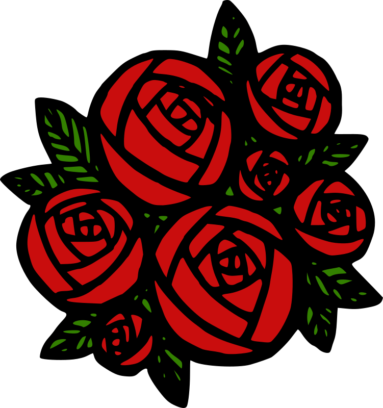 Rose Flowers Pictures With Love Clipart - Bunch of Red...
