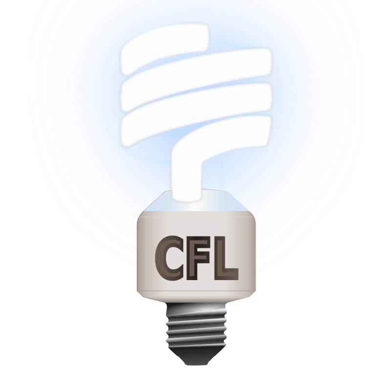 Clipart Compact Fluorescent Lamp