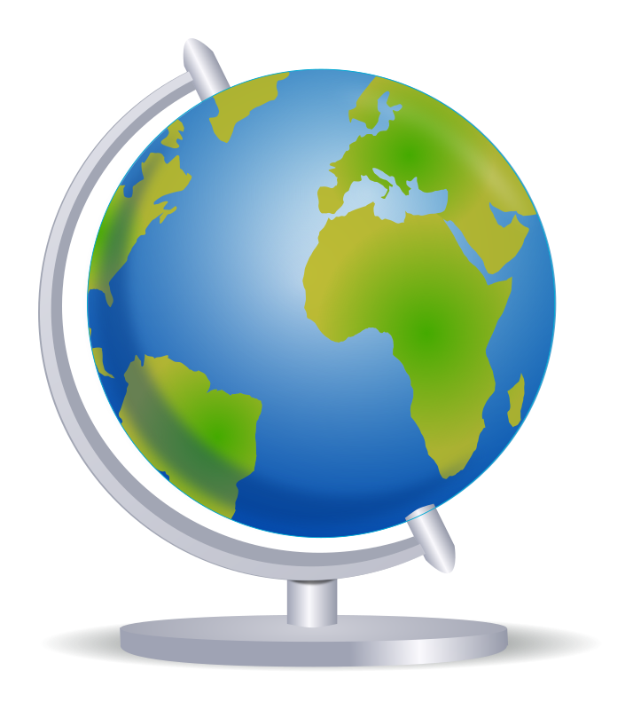 Clipart - Globe on stand
