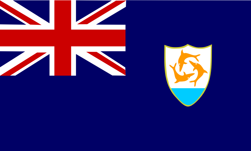 Flag of Anguilla by Anonymous - Flag of Anguilla by John C. Meuser. From OCAL 0.18 release.